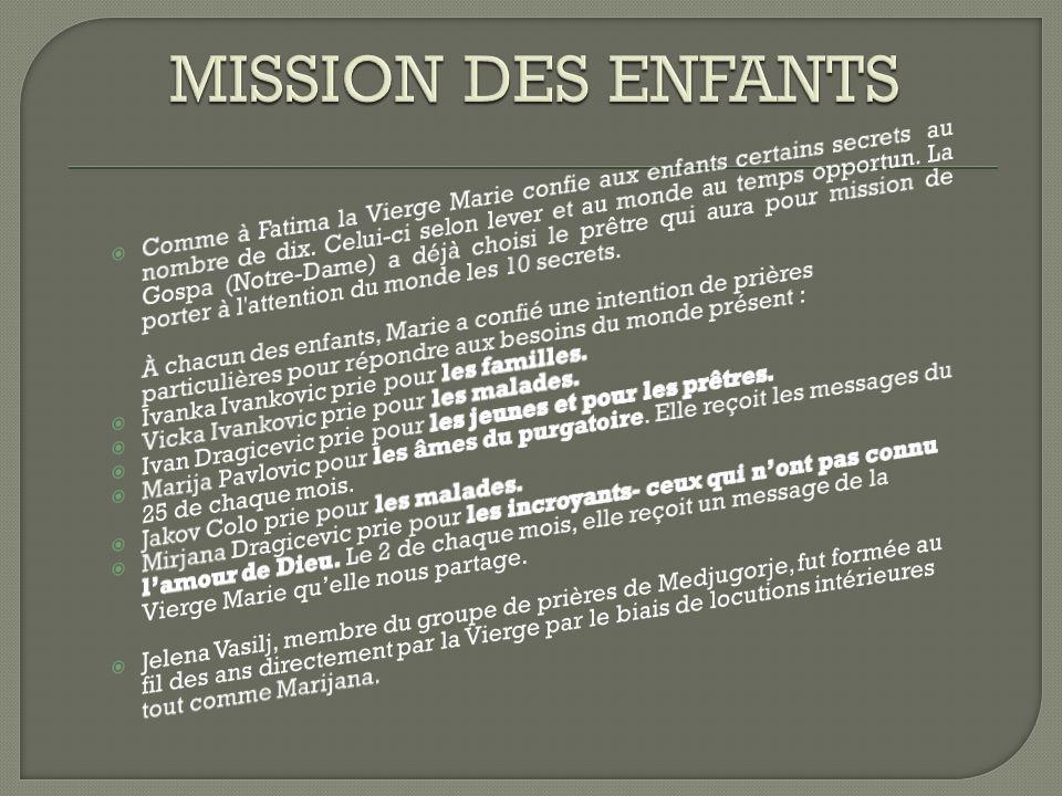 MISSION DES ENFANTS