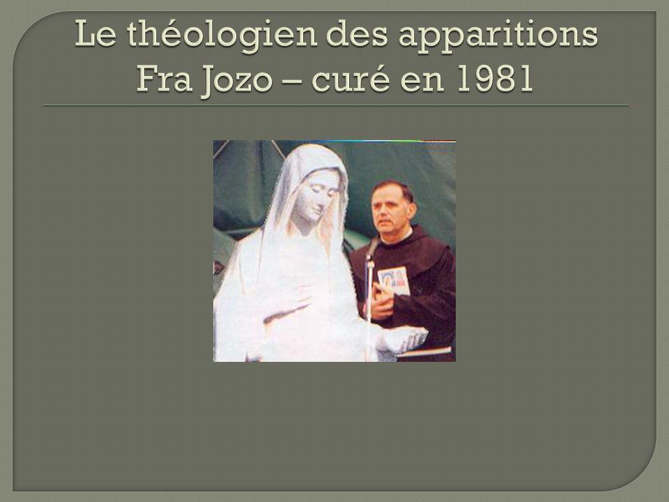 Le théologien des apparitions Fra Jozo – curé en 1981