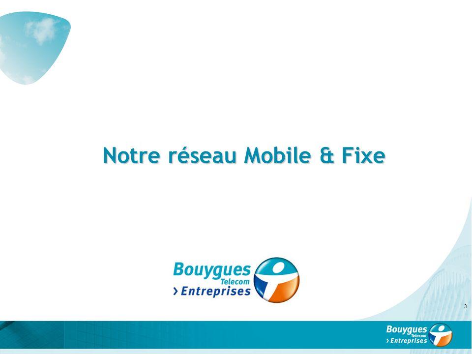 Notre réseau Mobile & Fixe