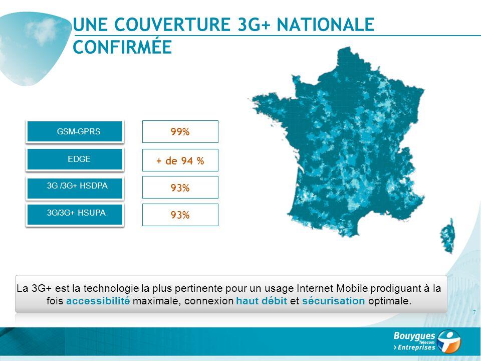 UNE COUVERTURE 3G+ NATIONALE CONFIRMÉE