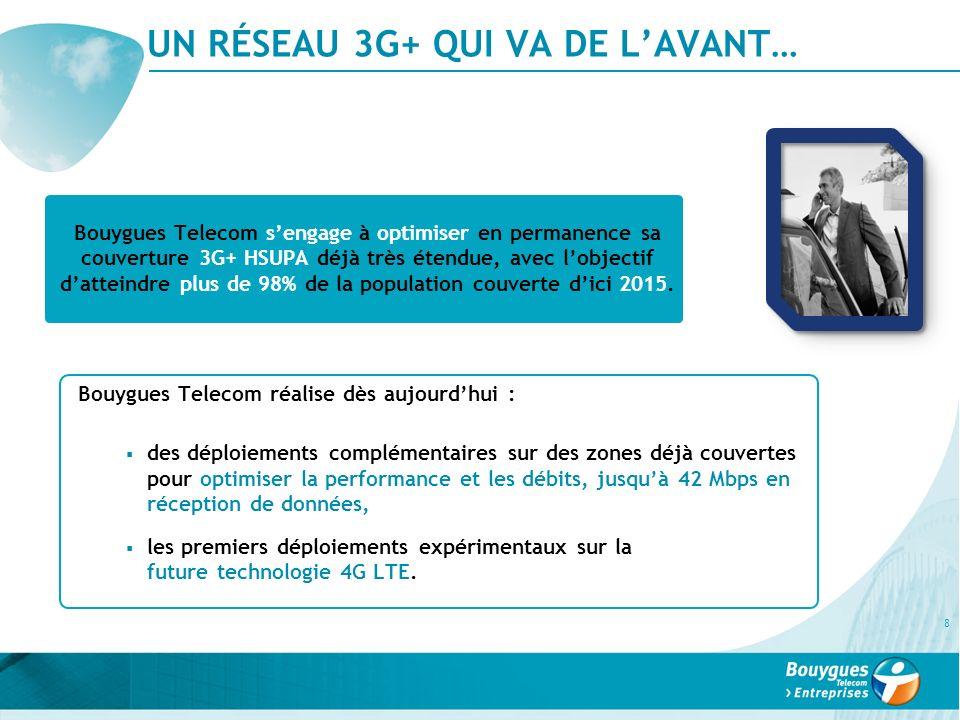 UN RÉSEAU 3G+ QUI VA DE L'AVANT…