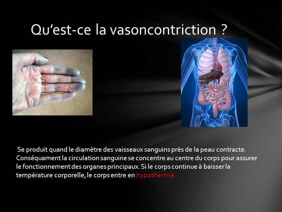 Qu'est-ce la vasoncontriction
