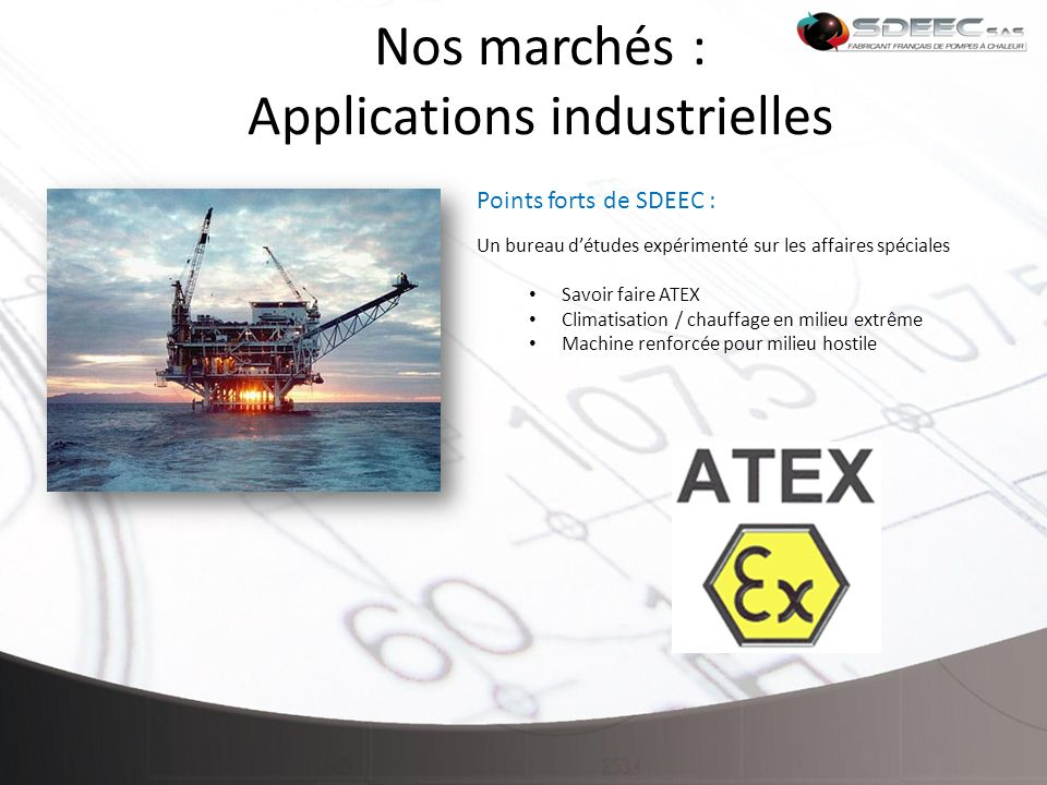 Nos marchés : Applications industrielles