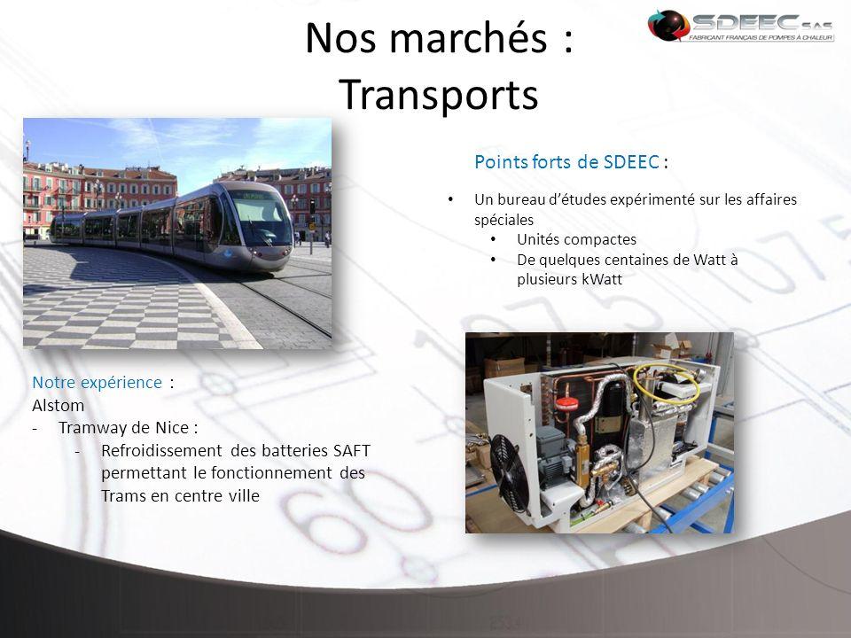 Nos marchés : Transports
