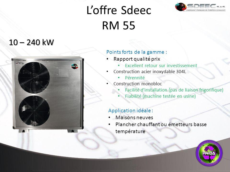L'offre Sdeec RM 55 10 – 240 kW Points forts de la gamme :