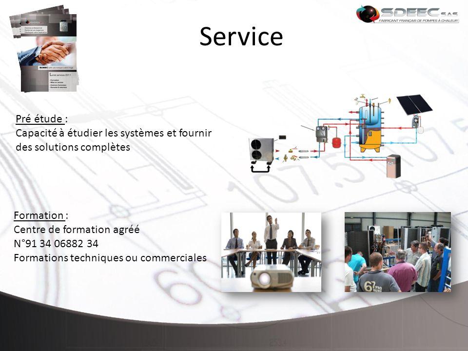 Service Pré étude : Capacité à étudier les systèmes et fournir des solutions complètes. Formation :