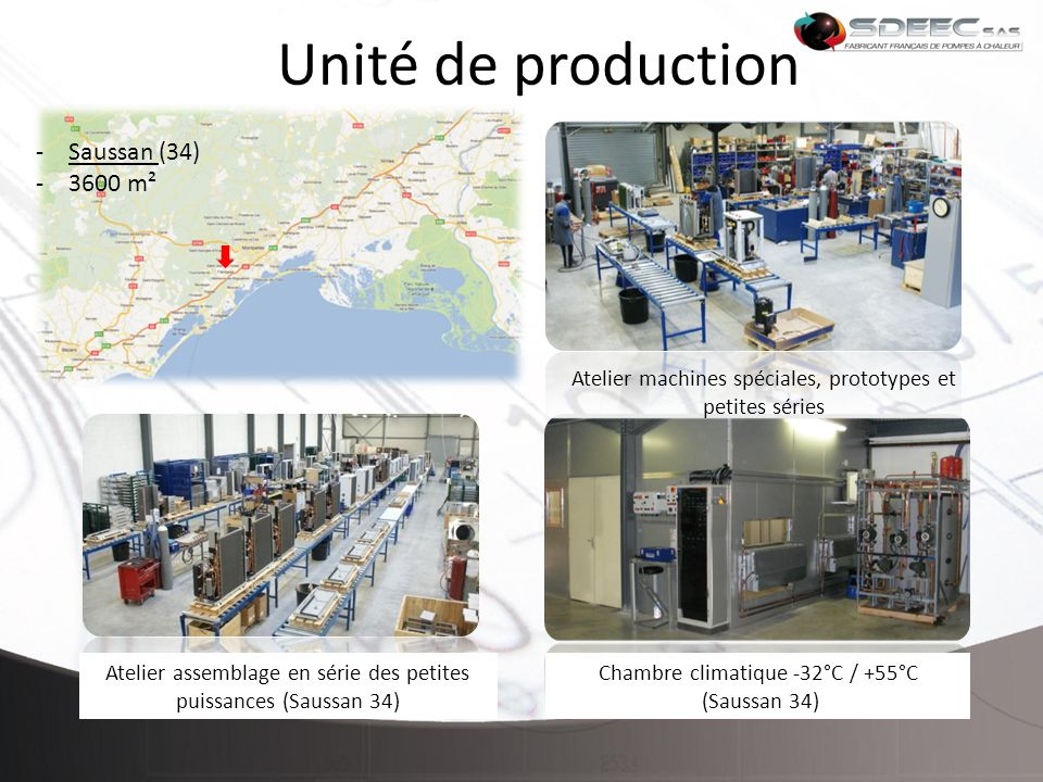 Unité de production Saussan (34) 3600 m²
