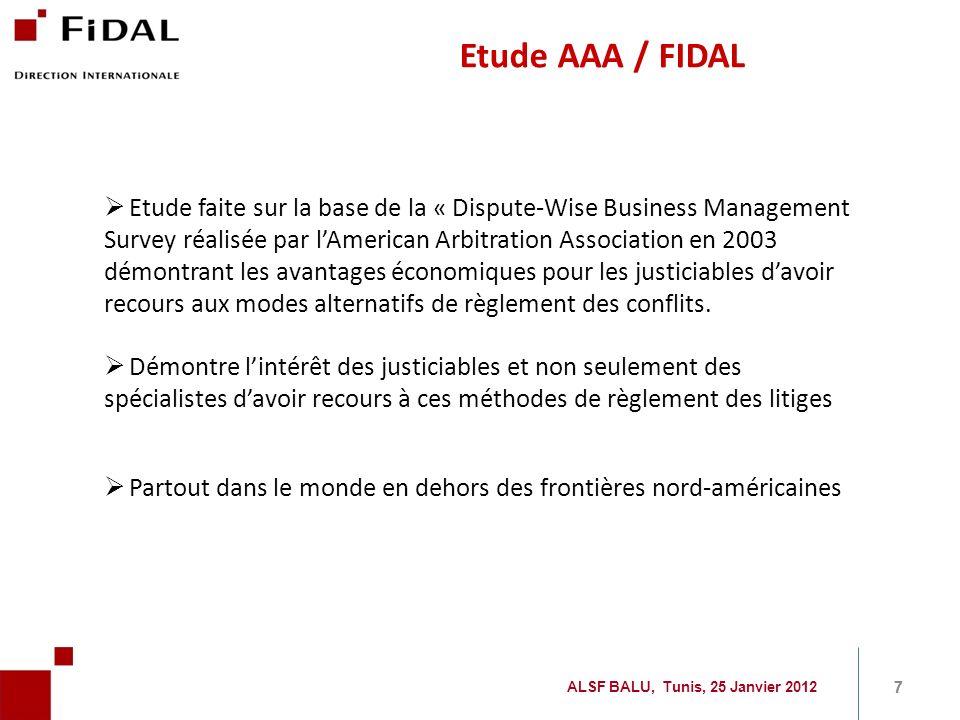 Etude AAA / FIDAL