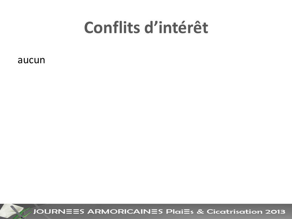 Conflits d'intérêt aucun