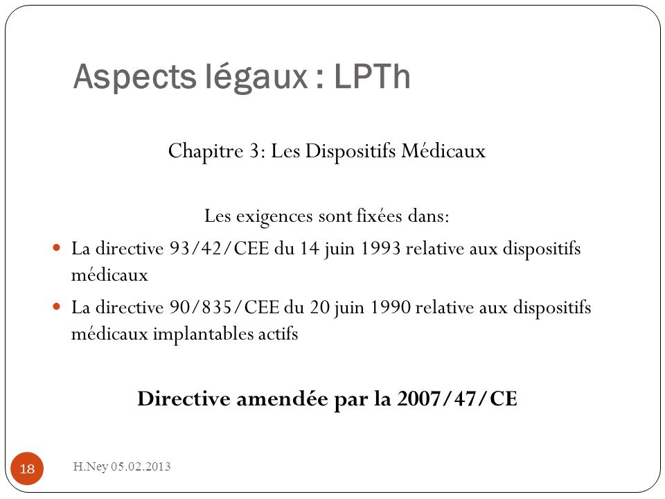 Directive amendée par la 2007/47/CE