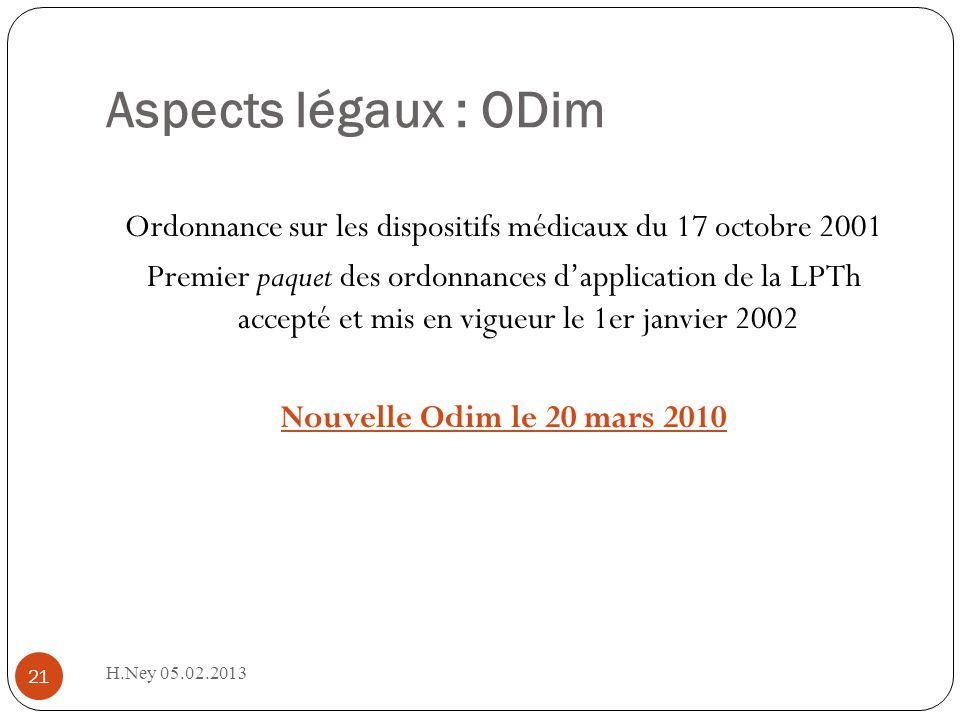 Aspects légaux : ODim