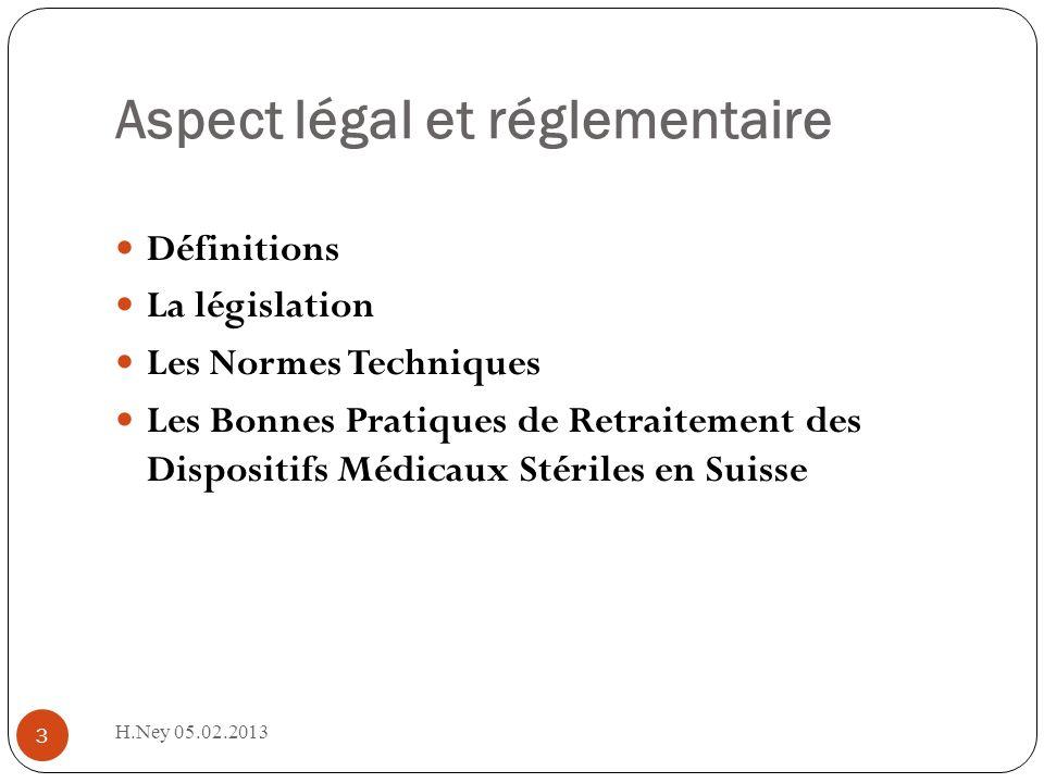 Aspect légal et réglementaire