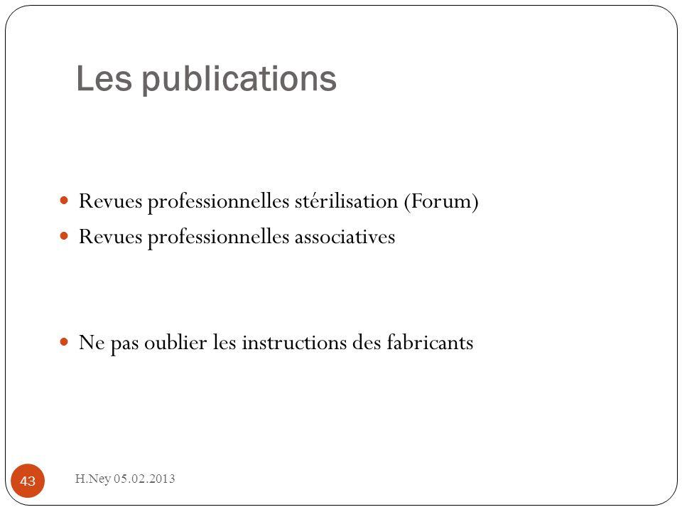 Les publications Revues professionnelles stérilisation (Forum)