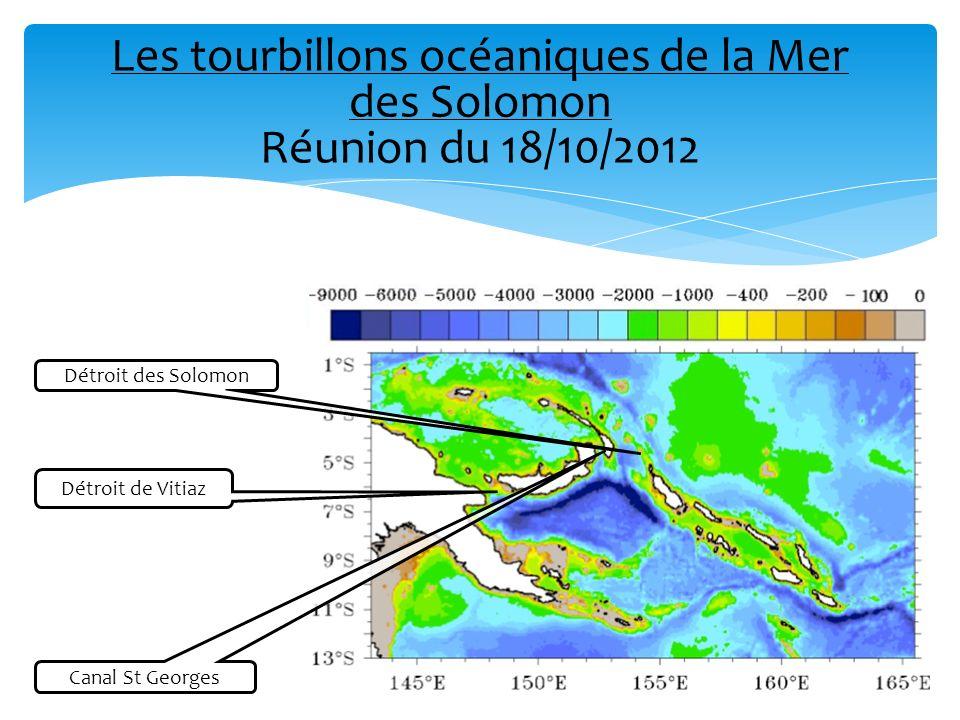 Les tourbillons océaniques de la Mer des Solomon Réunion du 18/10/2012