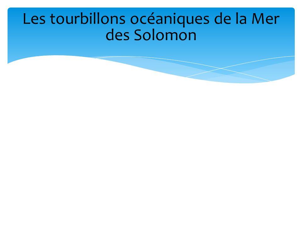 Les tourbillons océaniques de la Mer des Solomon