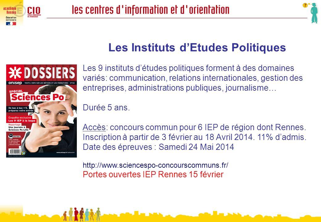 Les Instituts d'Etudes Politiques