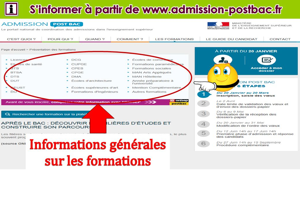 S'informer à partir de www.admission-postbac.fr