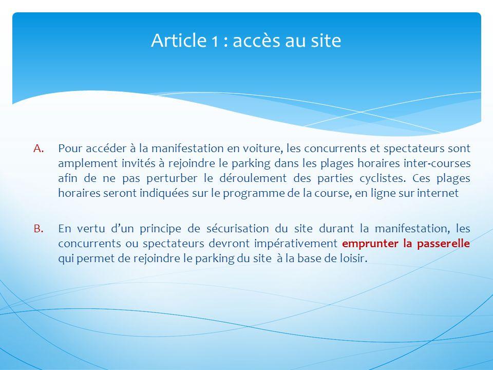 Article 1 : accès au site