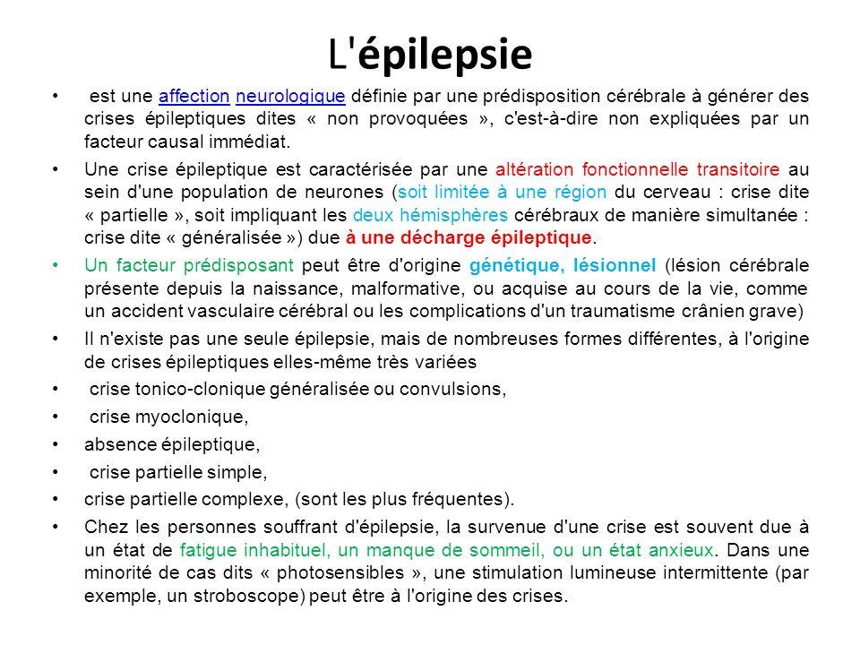 L épilepsie