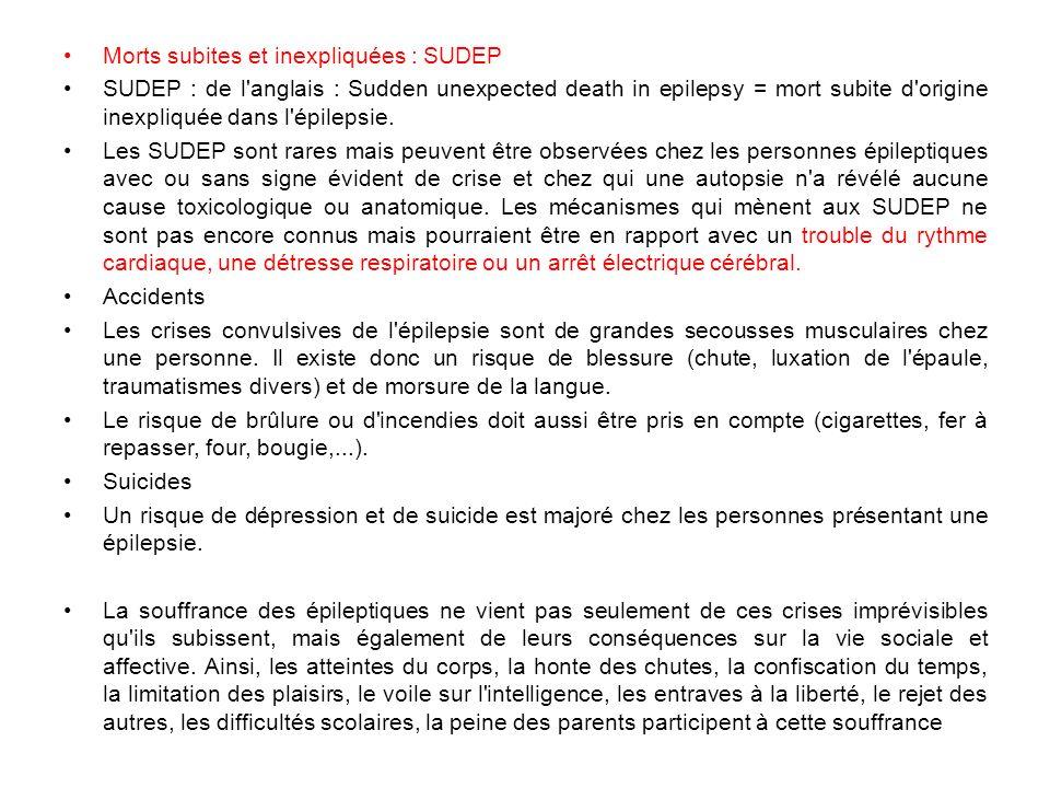 Morts subites et inexpliquées : SUDEP