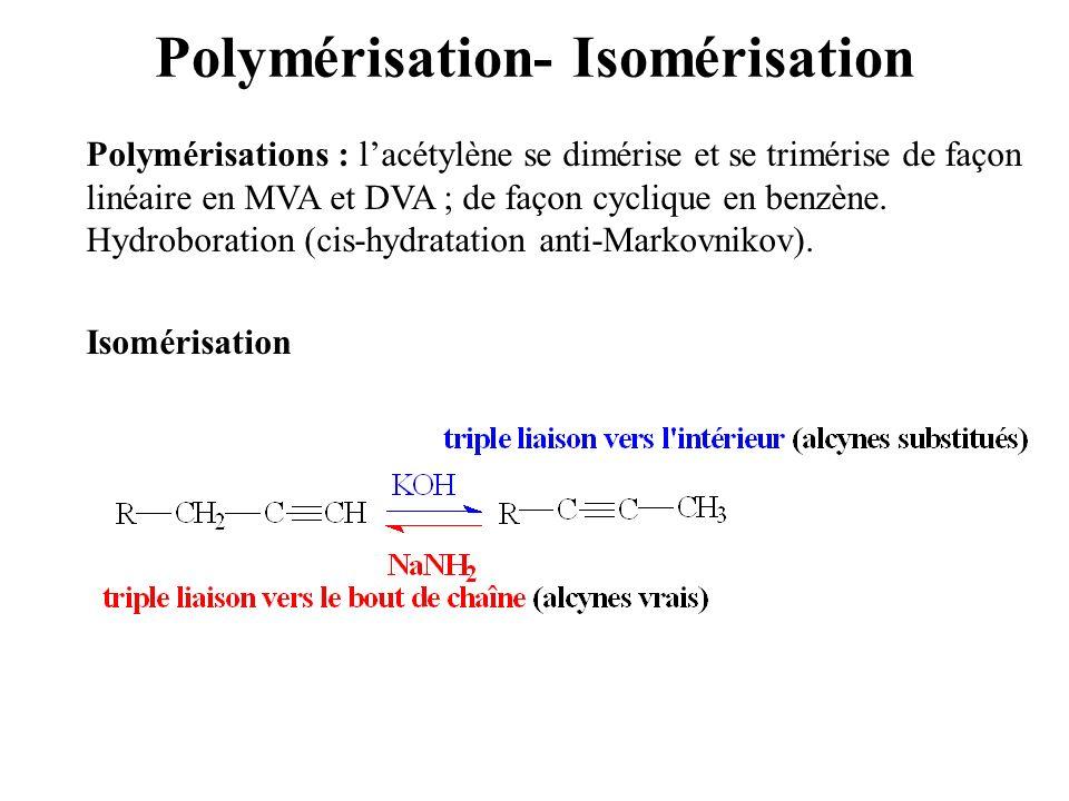 Polymérisation- Isomérisation