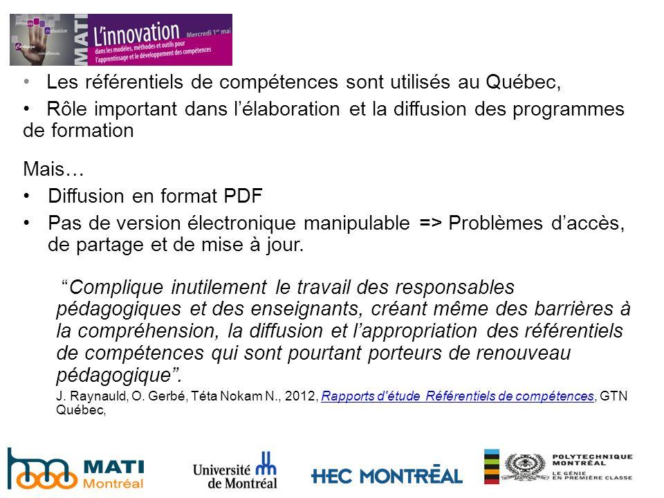 Les référentiels de compétences sont utilisés au Québec,