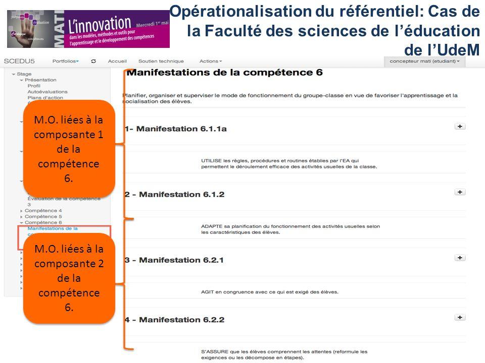 Opérationalisation du référentiel: Cas de la Faculté des sciences de l'éducation de l'UdeM