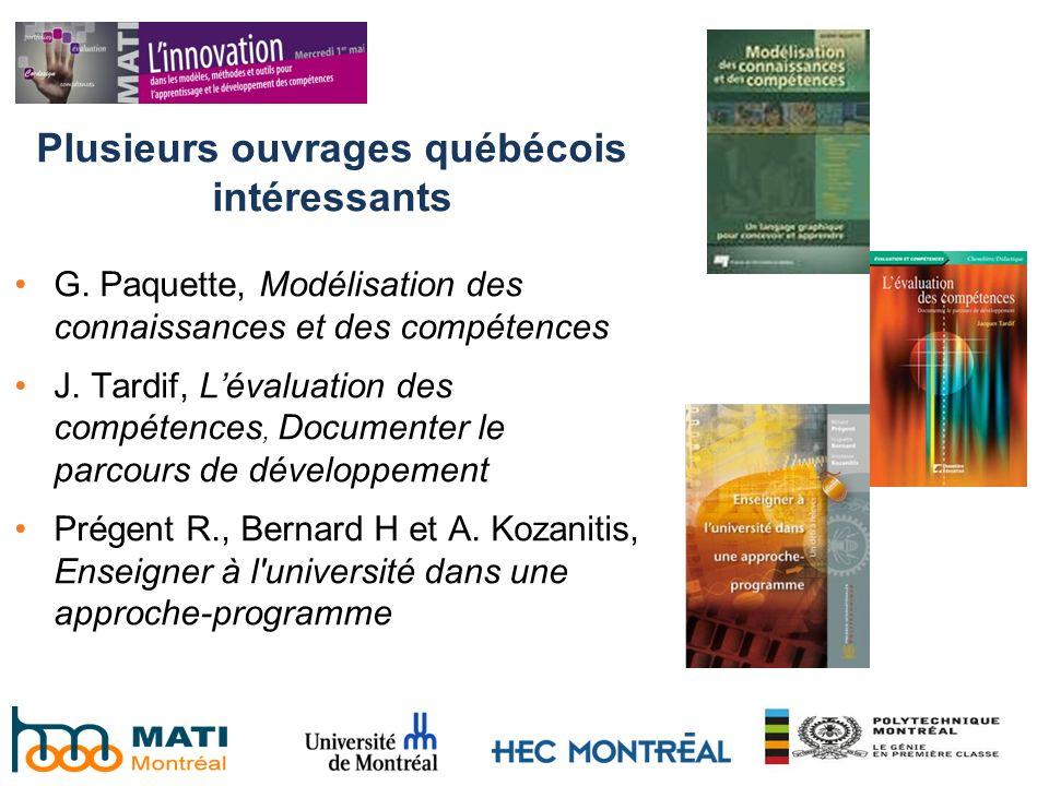Plusieurs ouvrages québécois intéressants