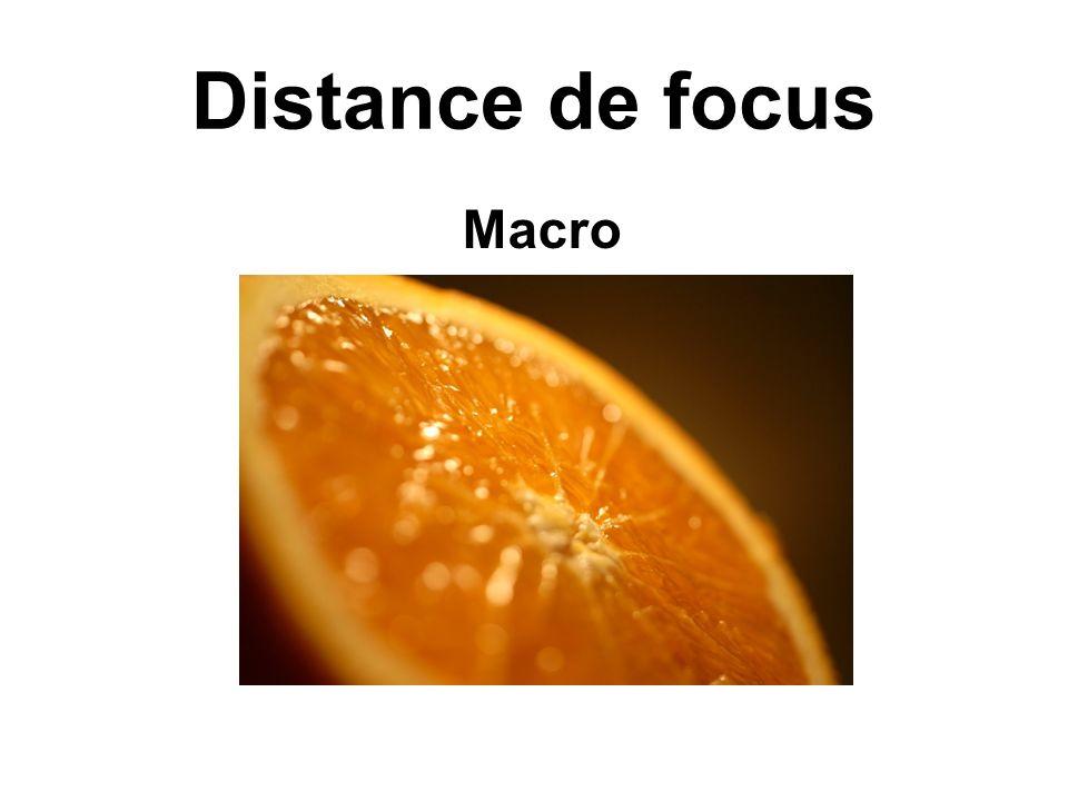 Distance de focus Macro