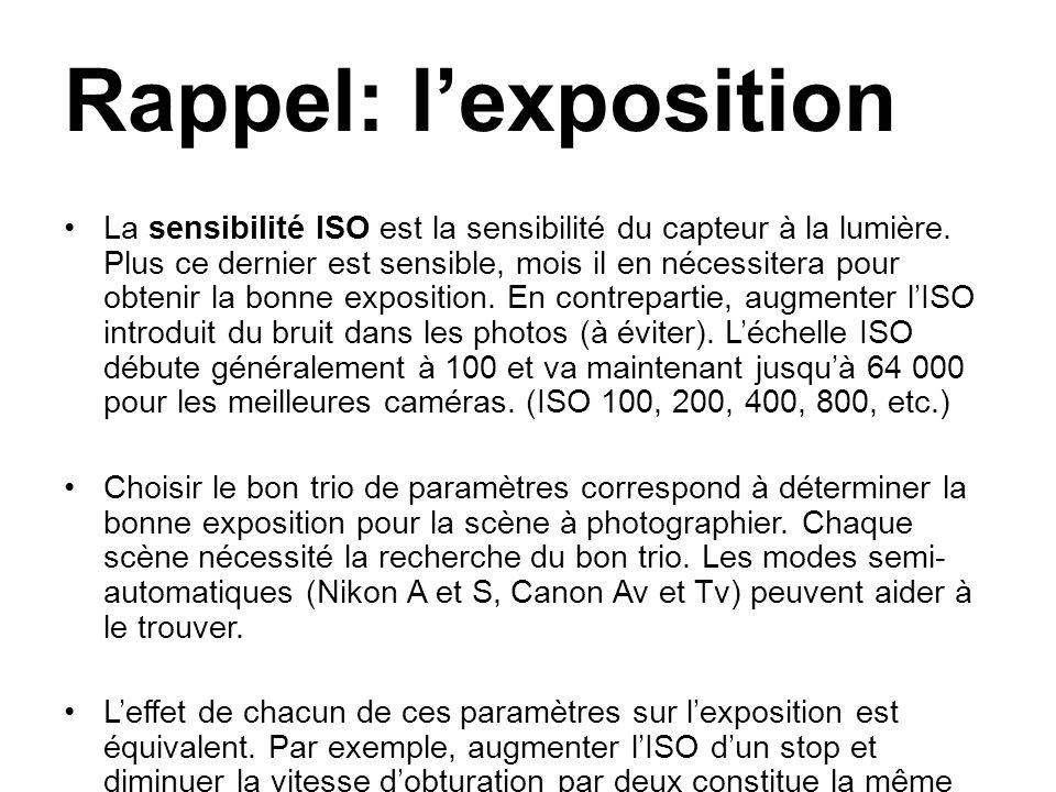 Rappel: l'exposition