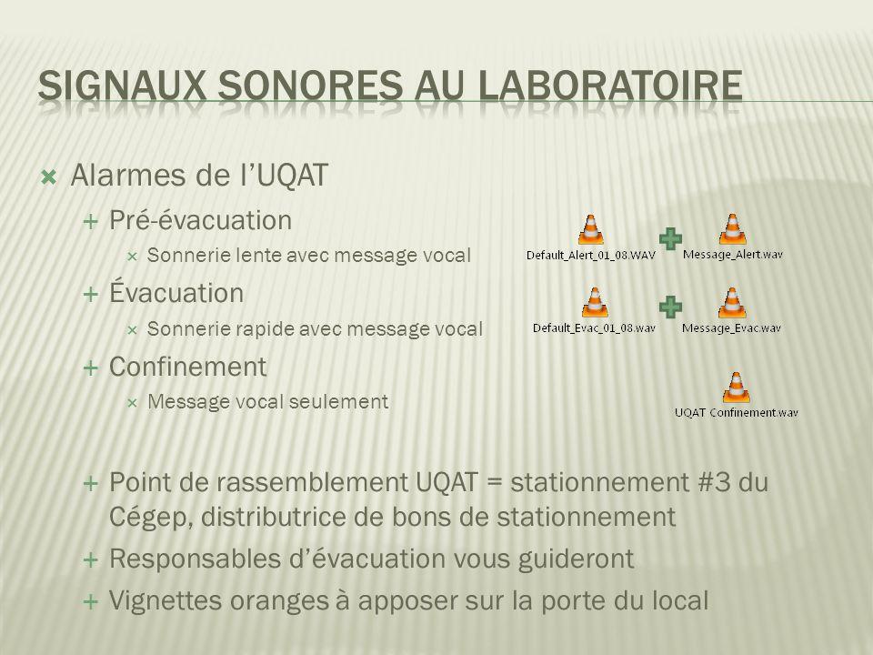 Signaux sonores au laboratoire