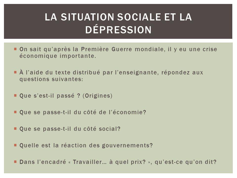 La situation sociale et la dépression