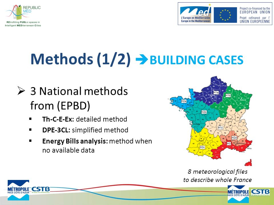 Methods (1/2) BUILDING CASES