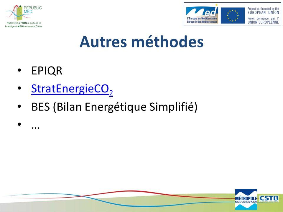 Autres méthodes EPIQR StratEnergieCO2