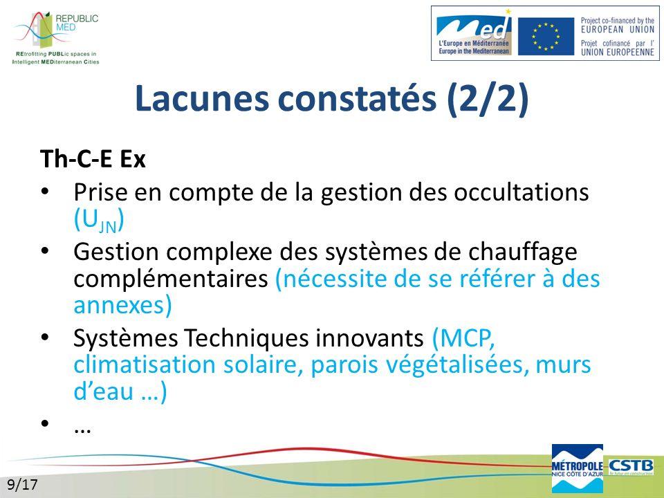 Lacunes constatés (2/2) Th-C-E Ex
