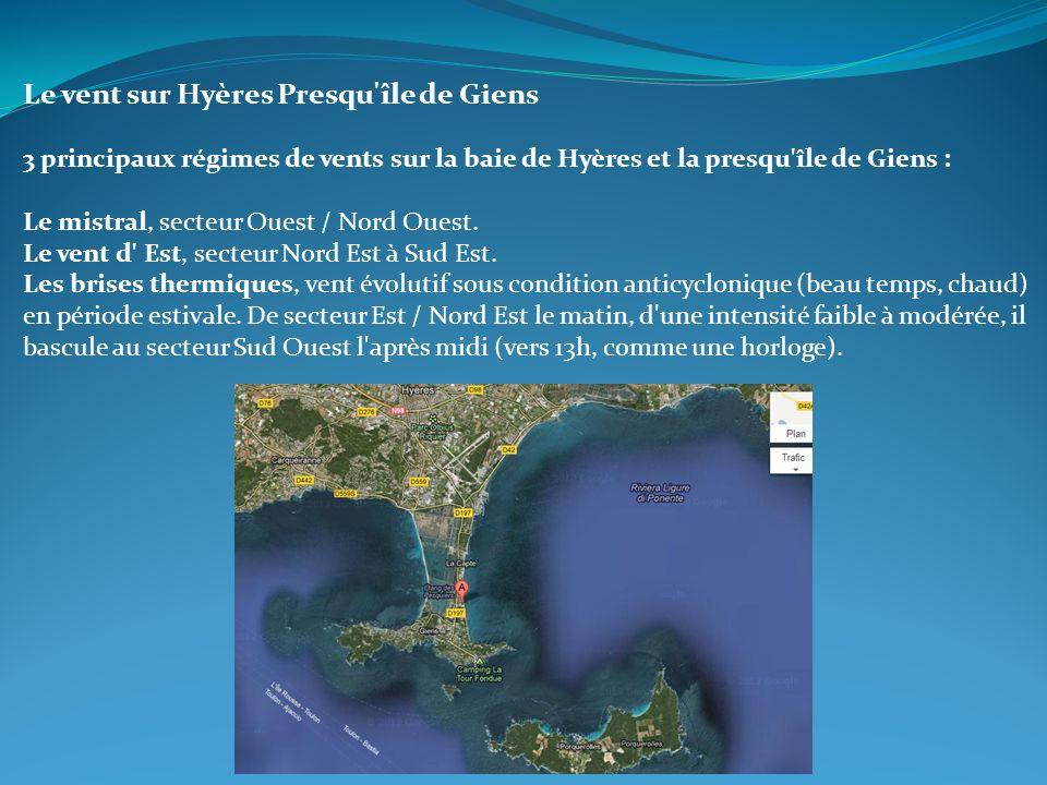 Le vent sur Hyères Presqu île de Giens