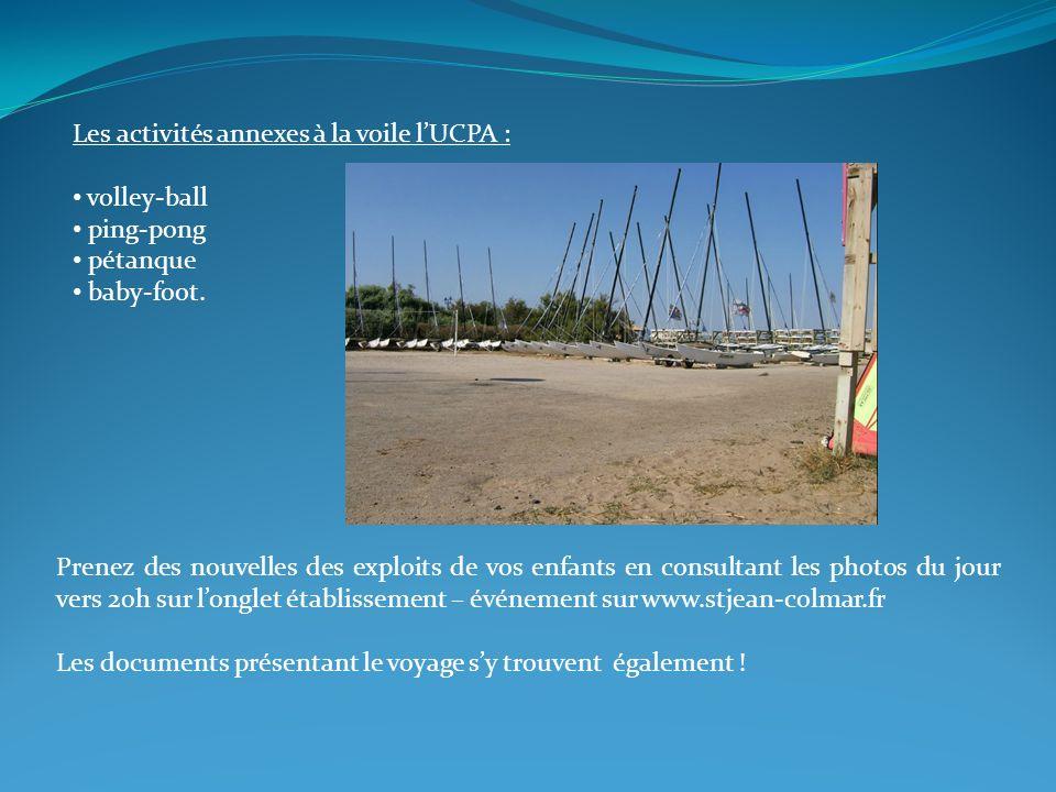 Les activités annexes à la voile l'UCPA :