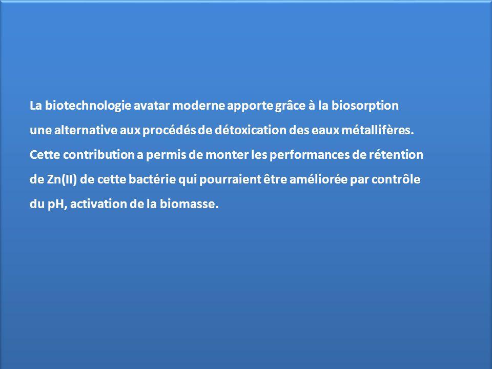 La biotechnologie avatar moderne apporte grâce à la biosorption