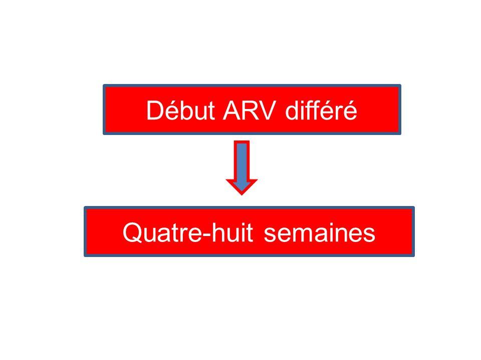 Début ARV différé Quatre-huit semaines