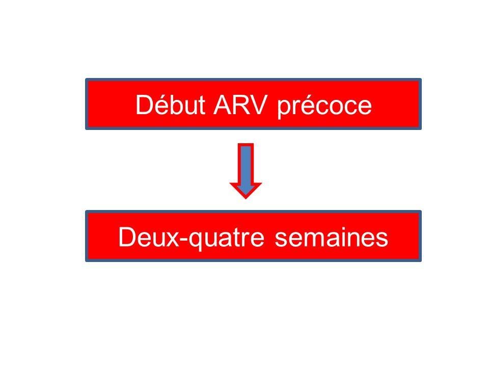 Début ARV précoce Deux-quatre semaines