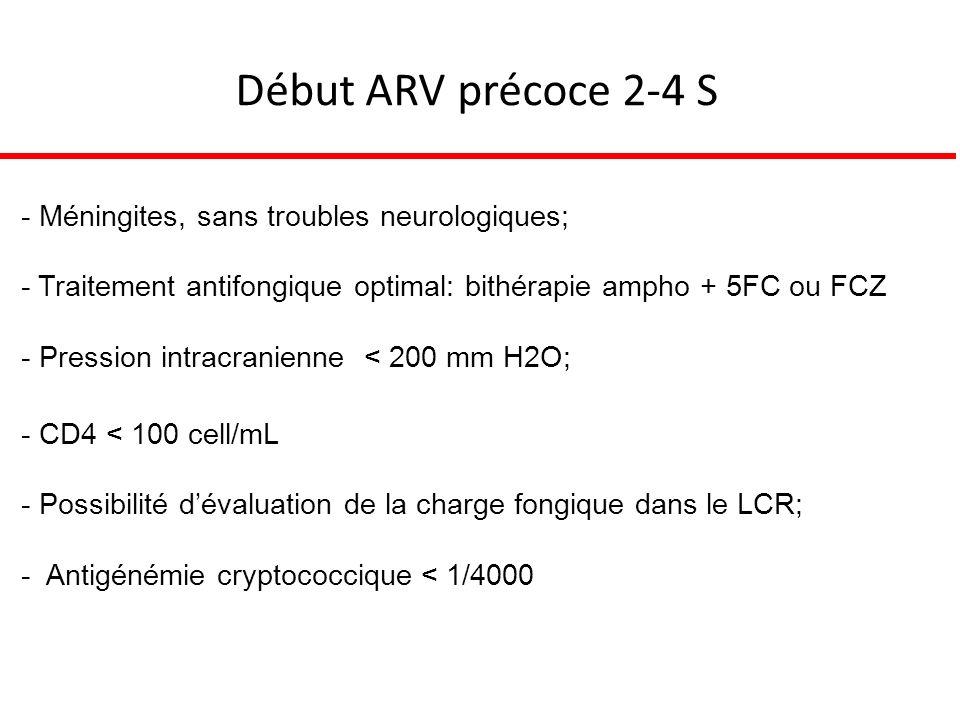 Début ARV précoce 2-4 S