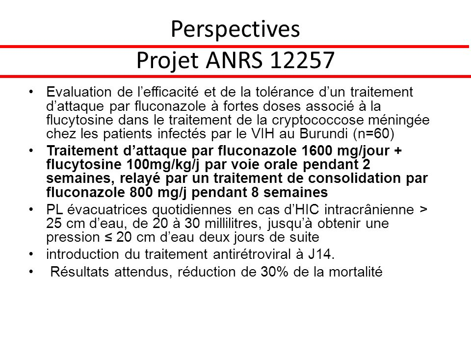 Perspectives Projet ANRS 12257