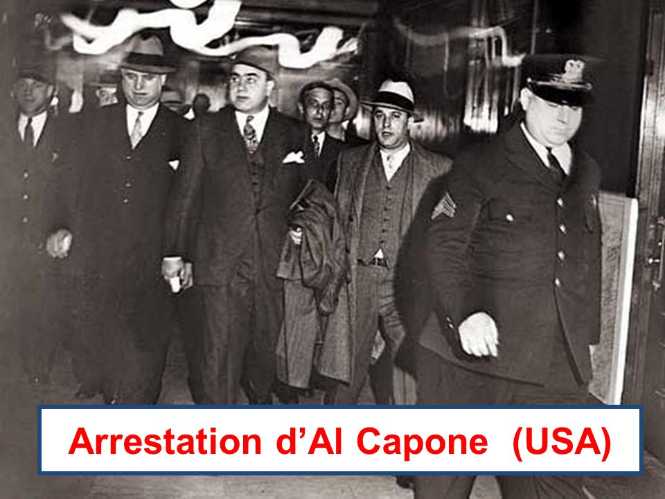 Arrestation d'Al Capone (USA)