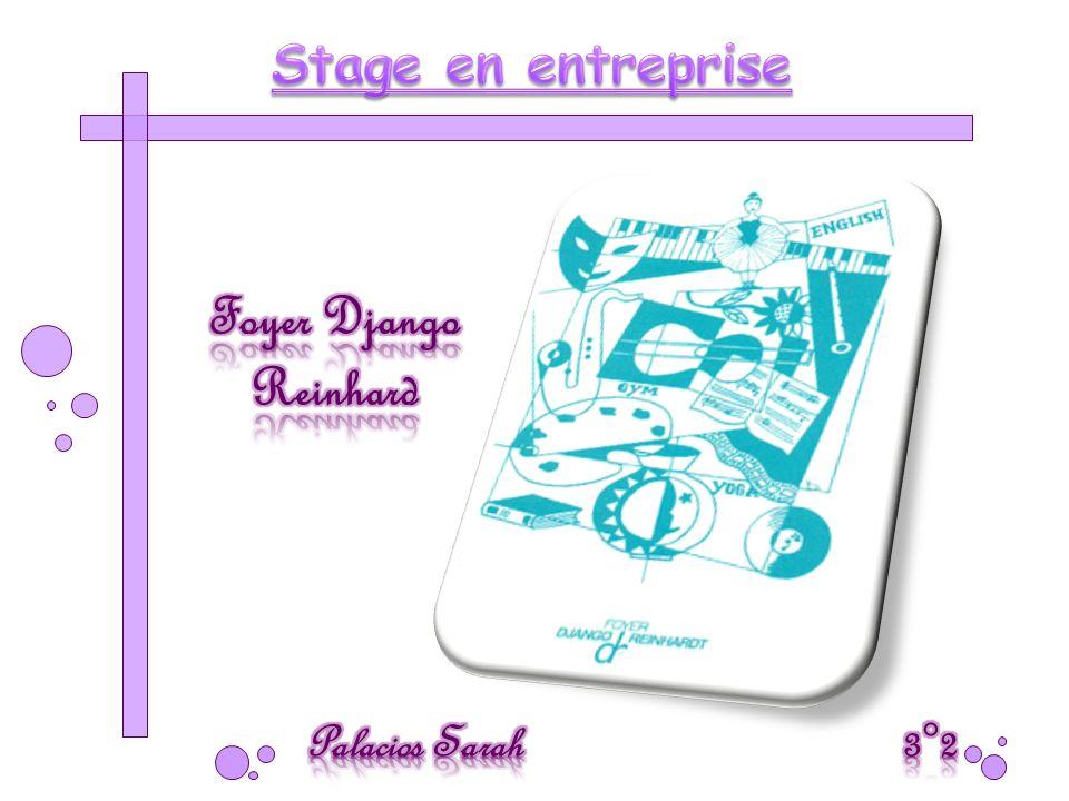 Stage en entreprise Foyer Django Reinhard Palacios Sarah 3°2