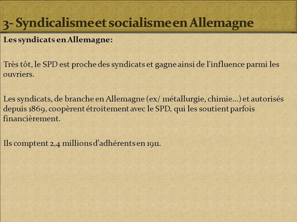 3- Syndicalisme et socialisme en Allemagne