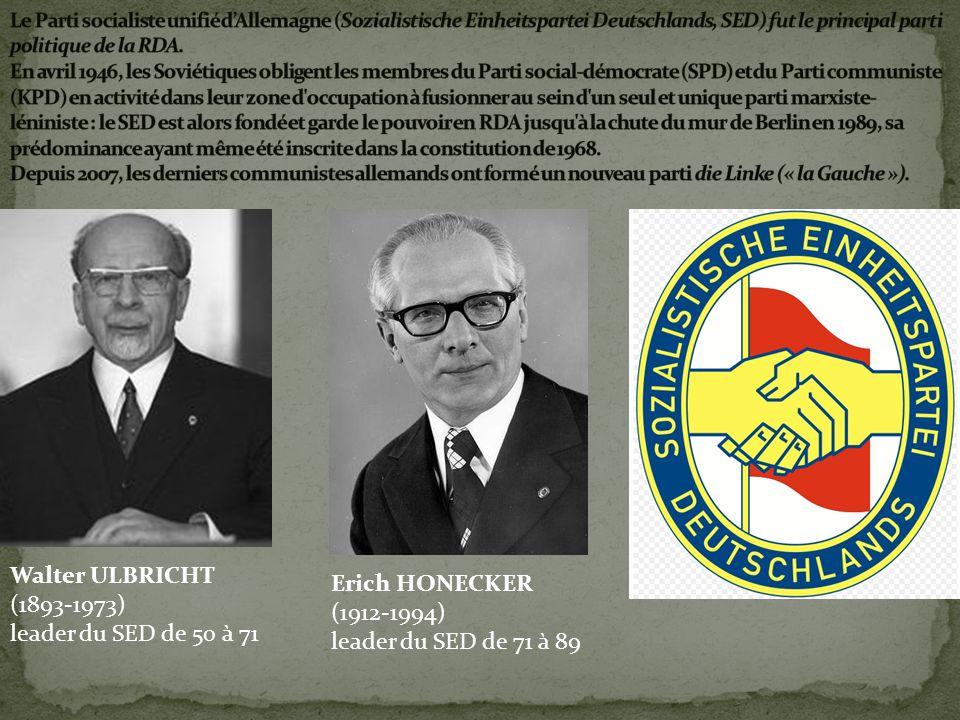 Walter ULBRICHT Erich HONECKER (1893-1973) (1912-1994)
