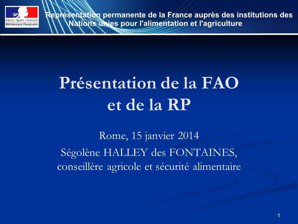 Présentation de la FAO et de la RP