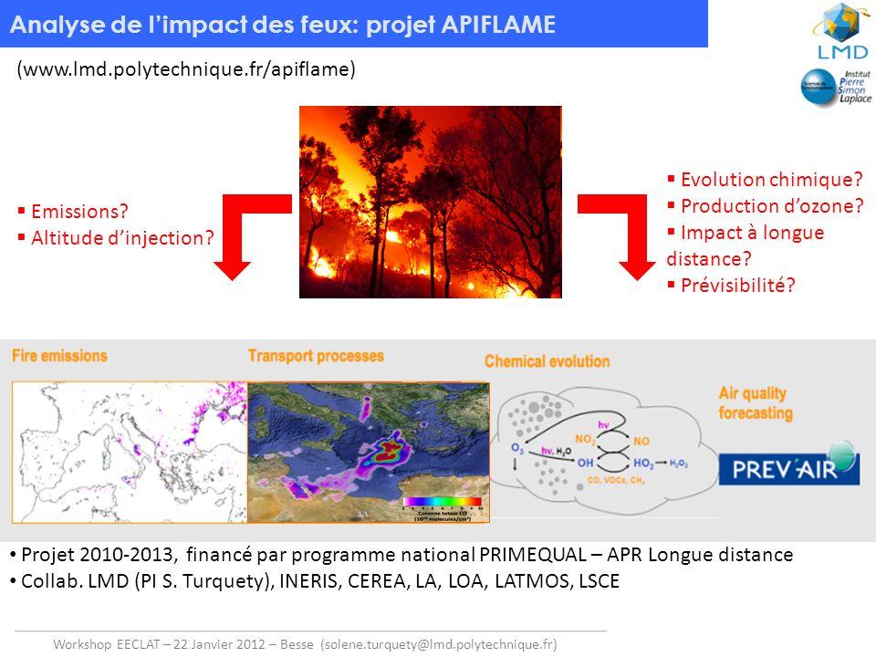 Analyse de l'impact des feux: projet APIFLAME