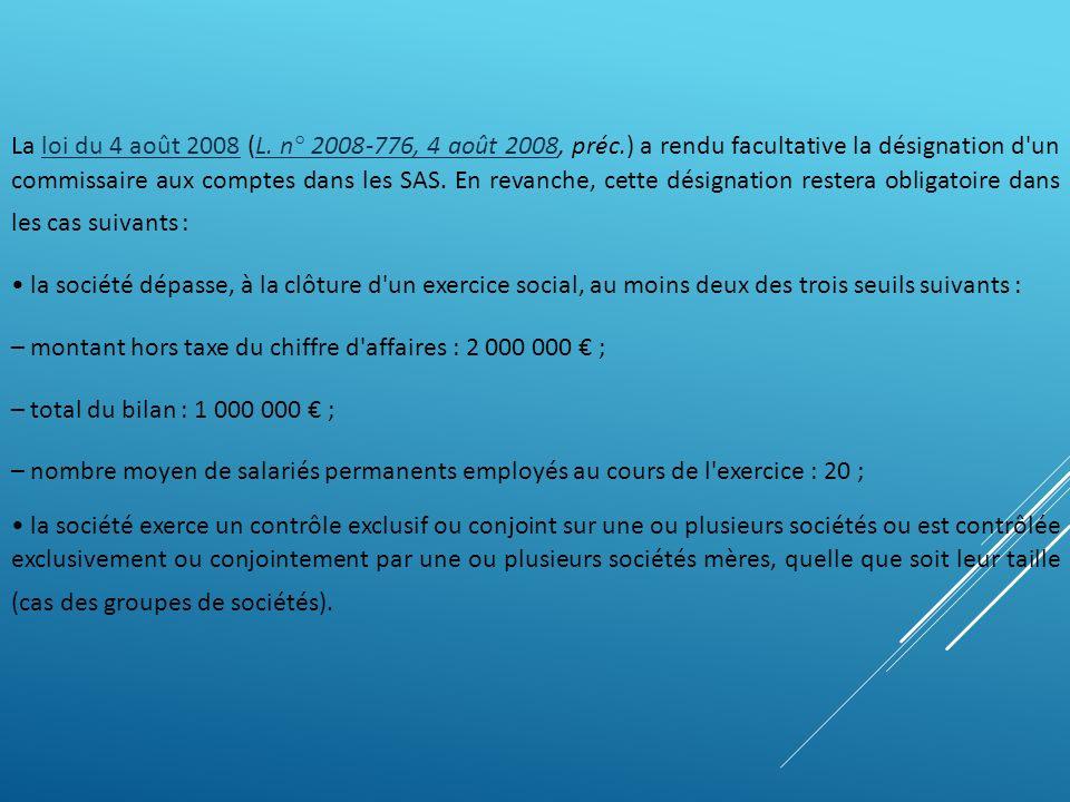 – montant hors taxe du chiffre d affaires : 2 000 000 € ;