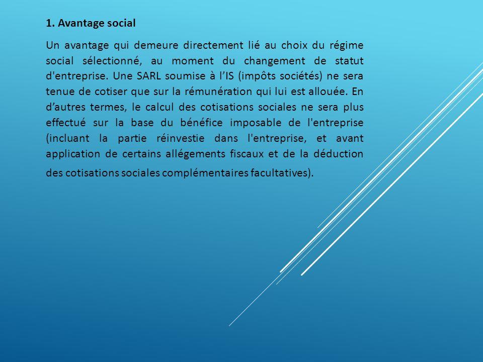 1. Avantage social